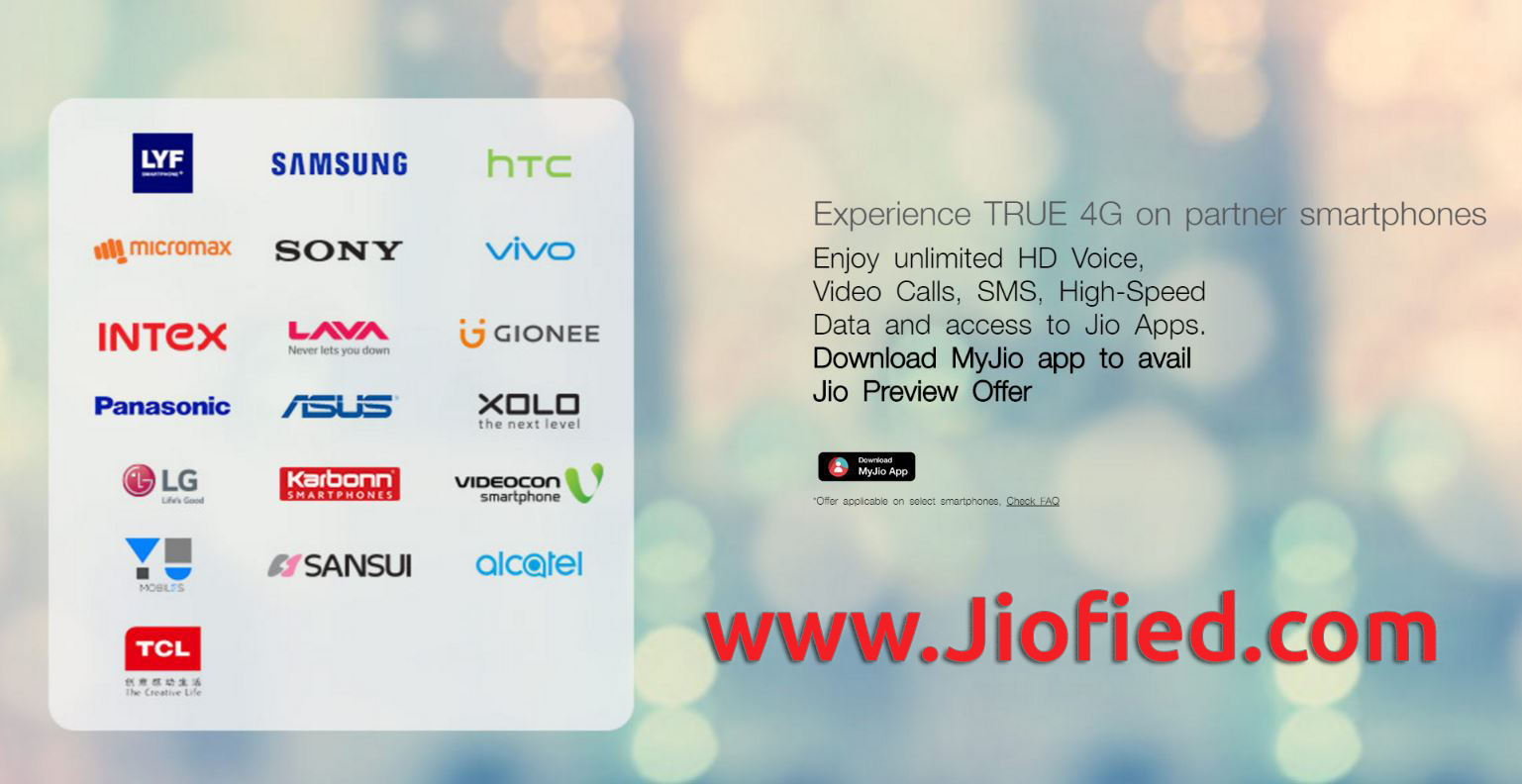 Reliance Jio 4G SIM offer